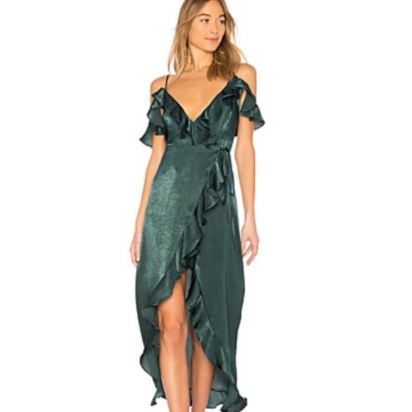 MAJORELLE Dresses & Skirts - BNWT Majorelle wrap emerald green dress, size S